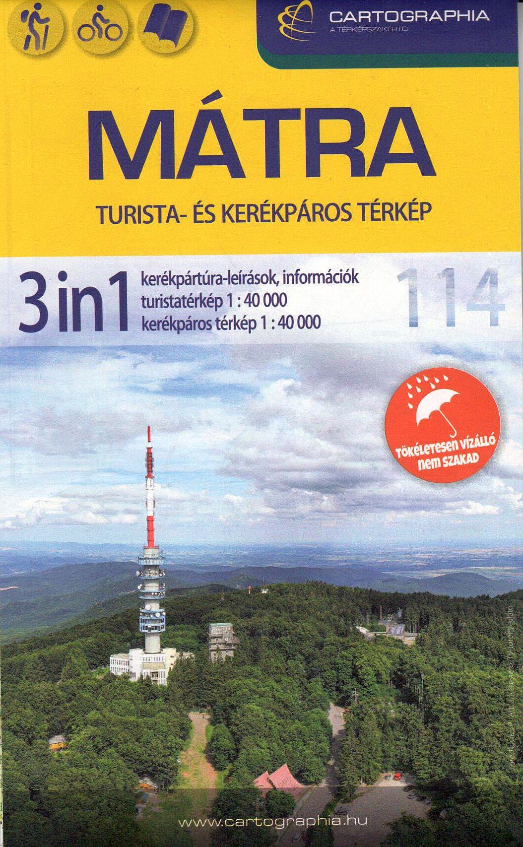 Nátra 3 az egyben: Mátra turistatérkép 1:40.000 Mátra kerékpáros térkép 1:40.000 Mátra kerékpáros túrakalauz