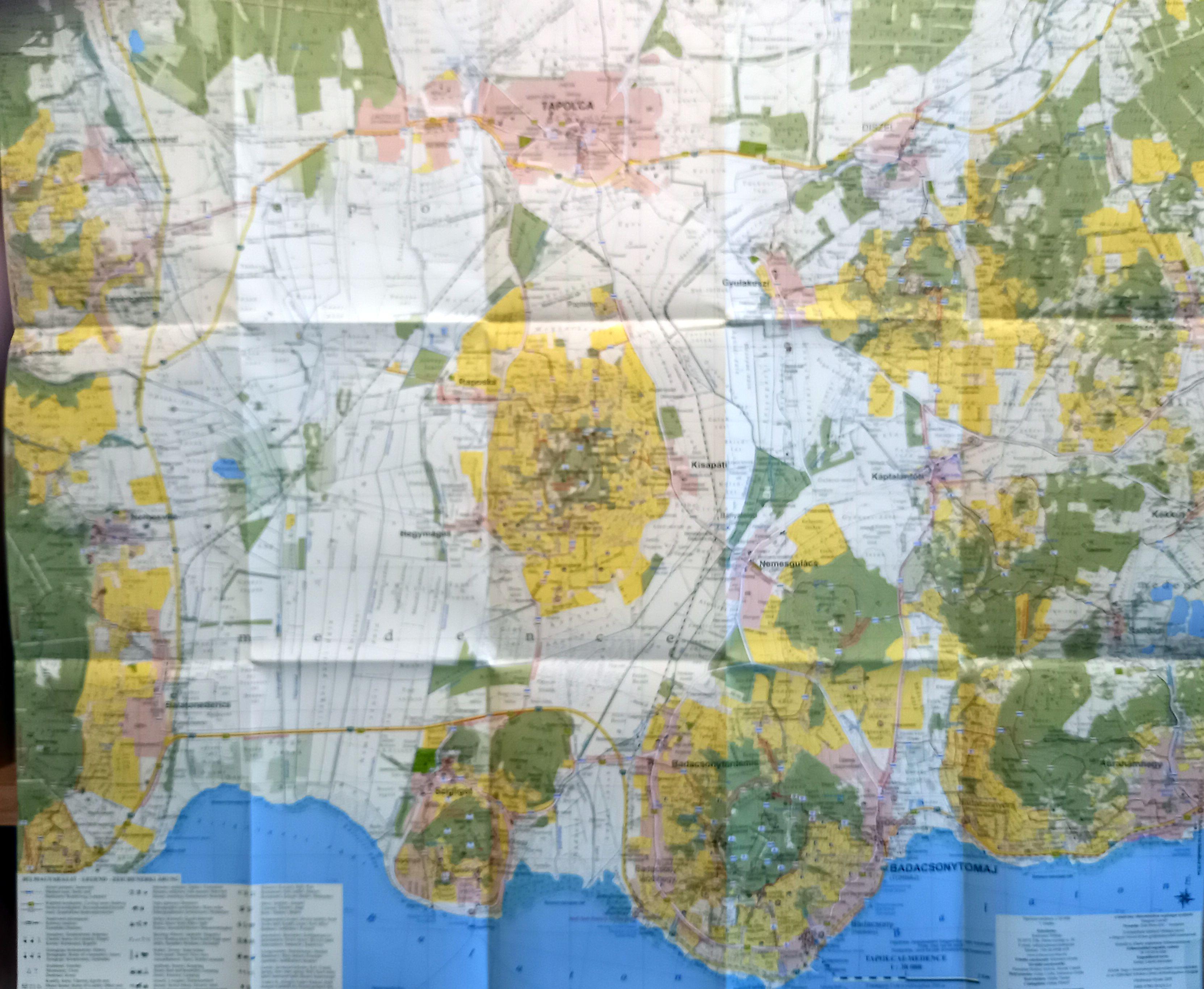 A Tapolcai-medence 1.30.000 térkép által lefedett terület