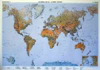 A Föld domborzata falitérkép (angol nyelvű, írható, letörölhető). Mérete 120 x 84 cm