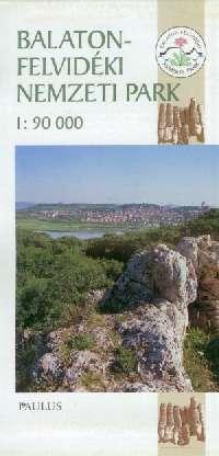 Részletes turista-információs térkép aBalaton-felvidéki nemzeti parkról beleértve a Kis-Balatont is