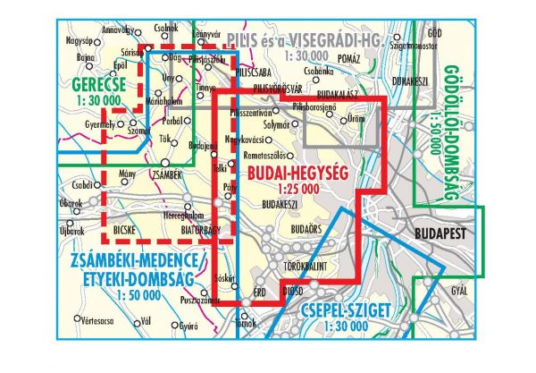 A Budai-hegység áttekintő térképe
