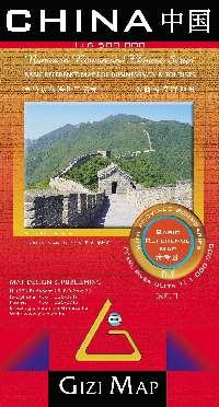A közigazgatásinevek és a jelentősebb városoklatinbetűs és kínai írással is szerepelnek a jól áttekinthető térképen