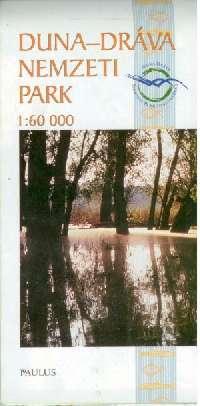 Részletes turista-információs térkép a Duna-Dráva nemzeti parkról (benne a Dráva folyó, Gemenc és a Mohácsi-sziget északi része)