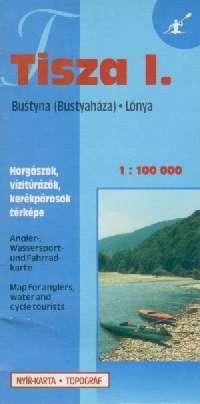 Részletes vizisport, horgász és biciklis térkép ( Tisza 1: Bustya/Bustyna-Lónya)