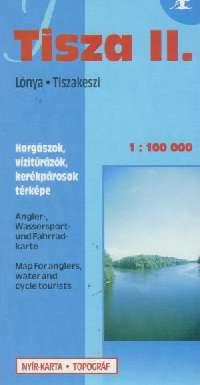 Részletes vizisport, horgász és biciklis térkép ( Tisza 2: Lónya - Tiszakeszi)