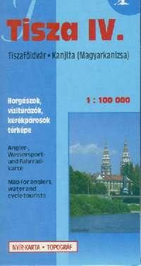 Részletes vizisport, horgász és biciklis térkép ( Tisza 4: Tiszaföldvár-Magyarkanizsa / Kanjiza)