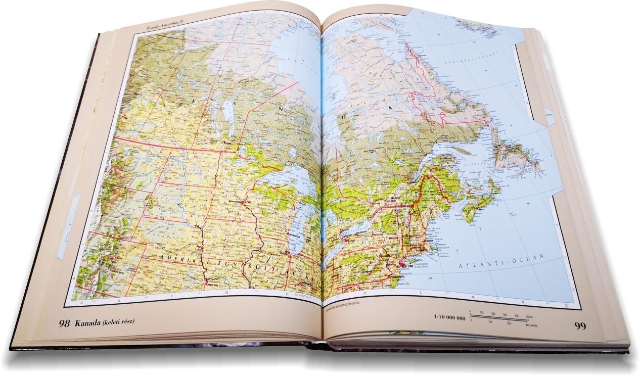 Nagy világatlasz: Kanada mintalap