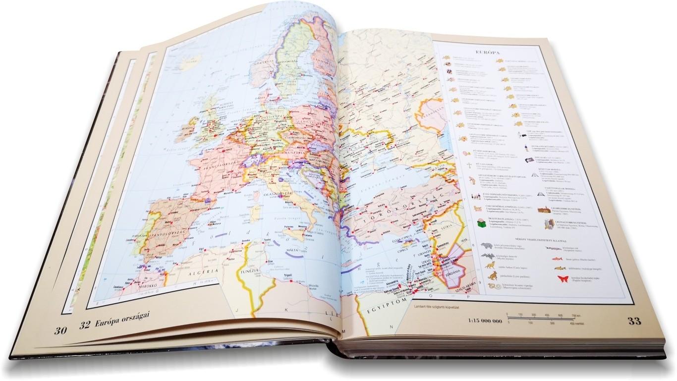 Nagy világatlasz Európa pol. térképe