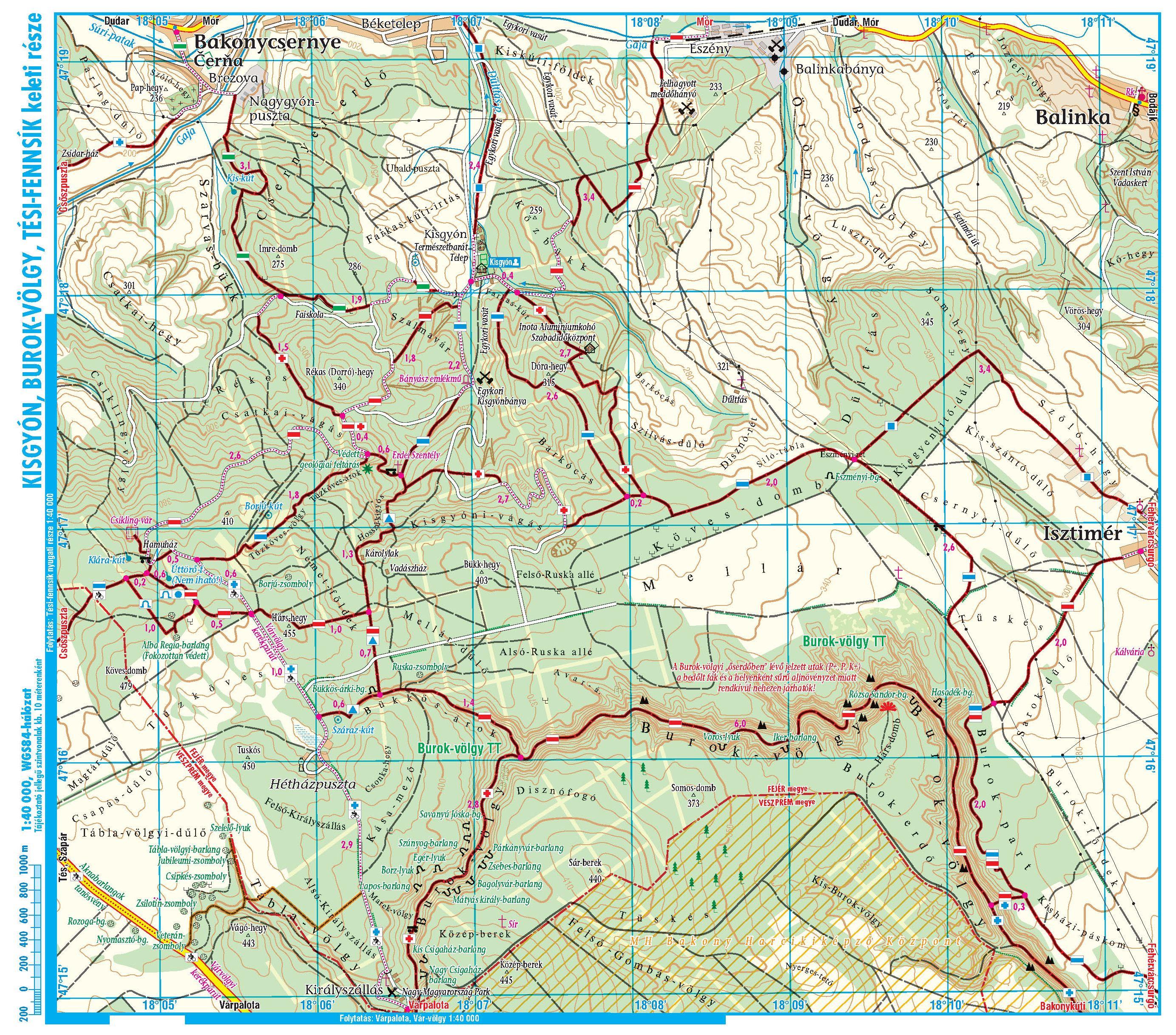Bakony: Burok-völgy 1:40.000 melléktérkép