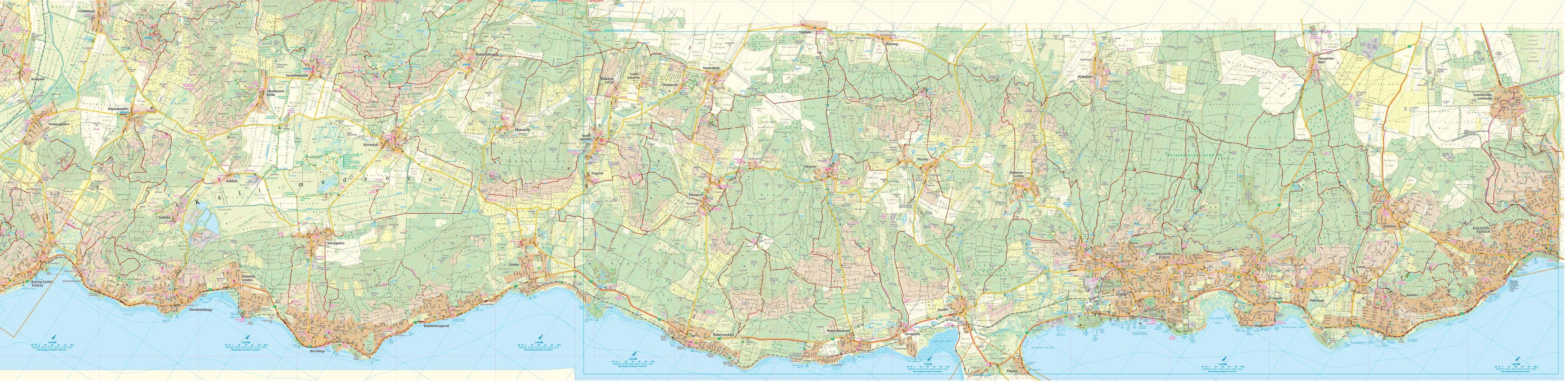 A Balaton-felvidék 1:25.000 térkép által lefedett terület