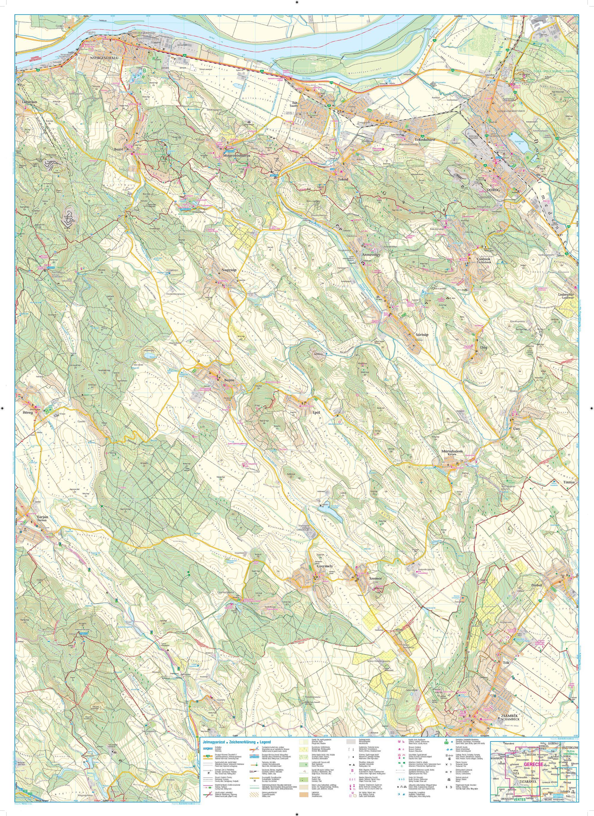 A Gerecse térkép keleti oldala