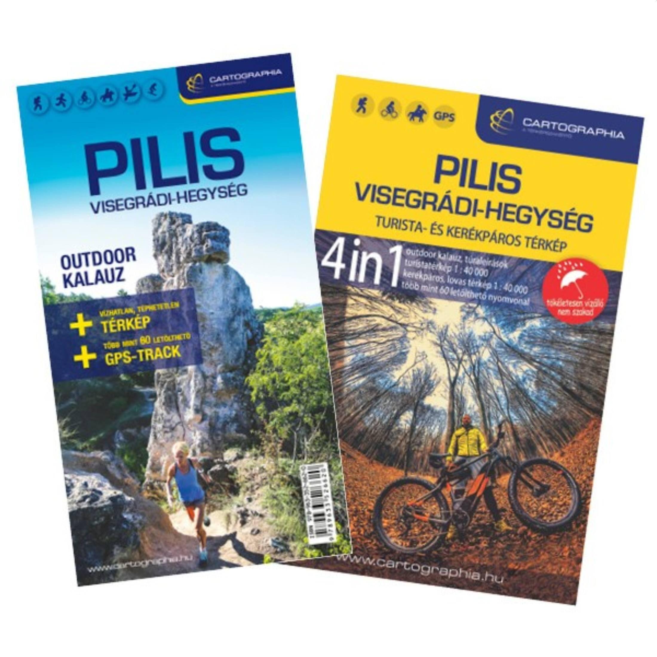 Pilis outdoor kalauz térképes és szöveges részek címlapja
