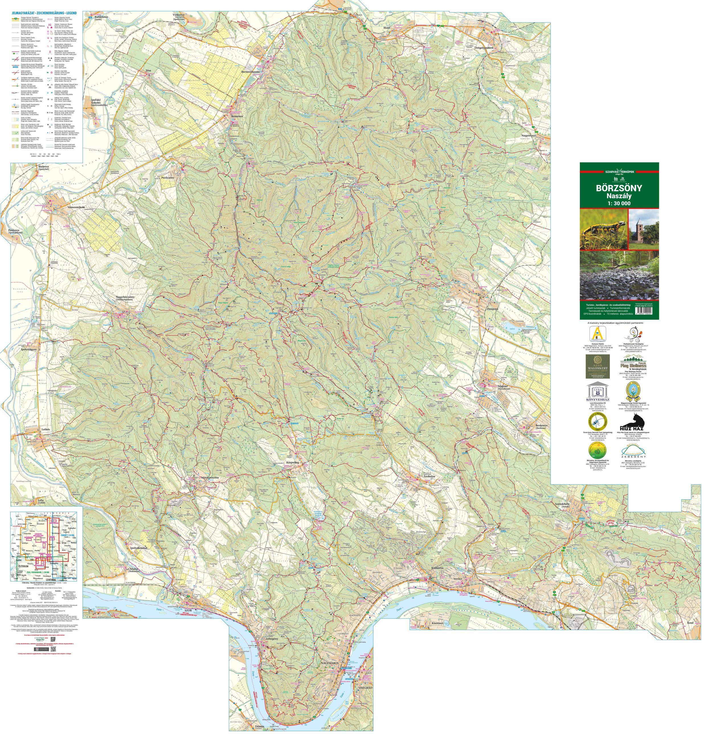 A Börzsöny-Naszály térkép által lefedett terület