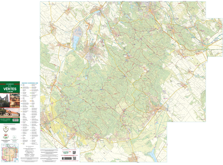 A Vértes térkép által lefedett terület