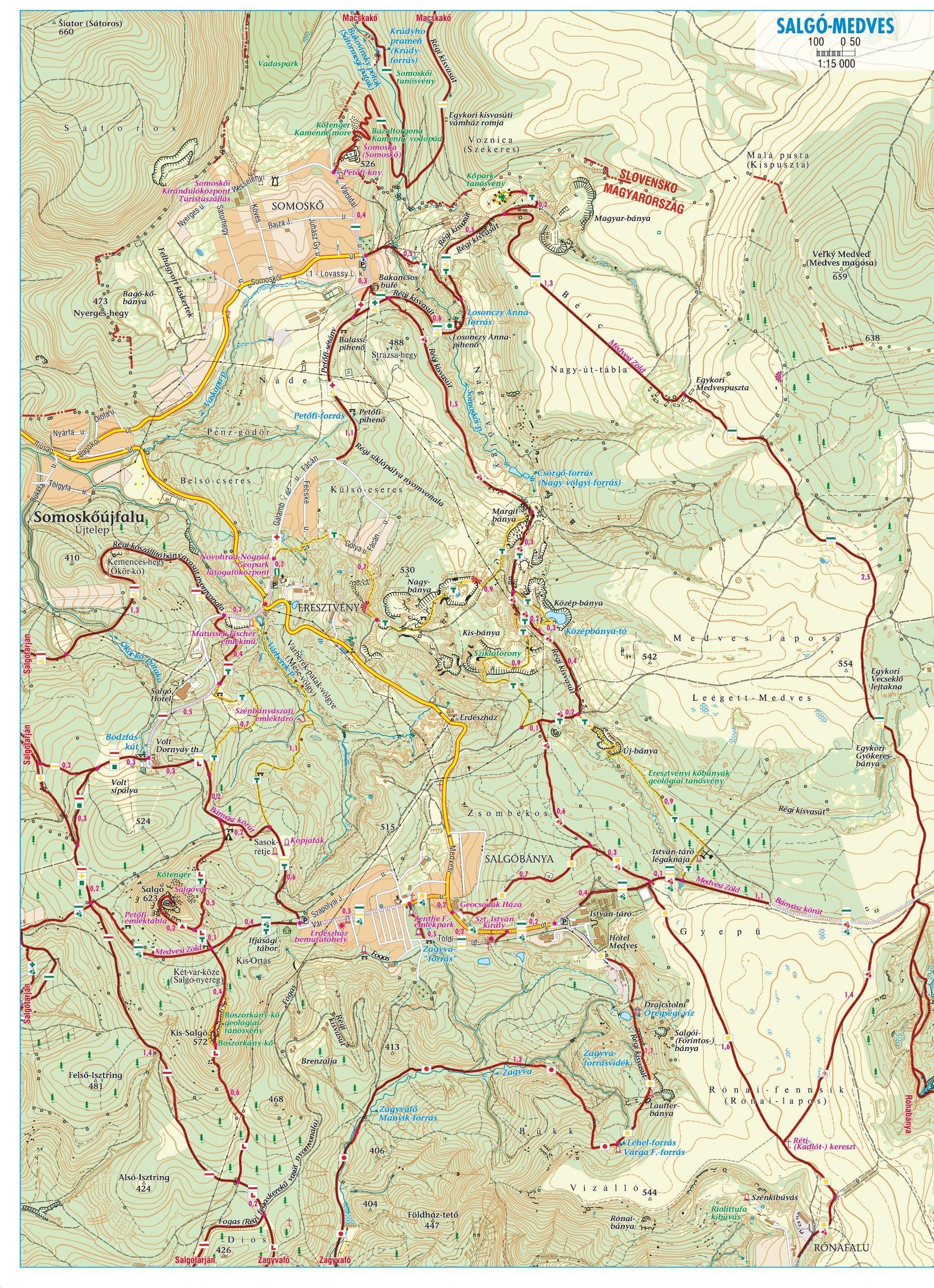 Karancs-Medves: Salgó 1:15.000 mintakivágat