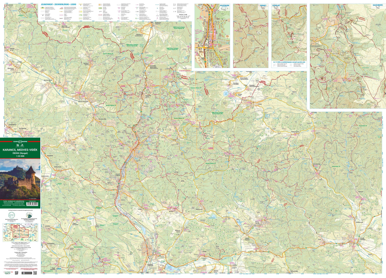 A Karancs-Medves térkép által lefedett terület