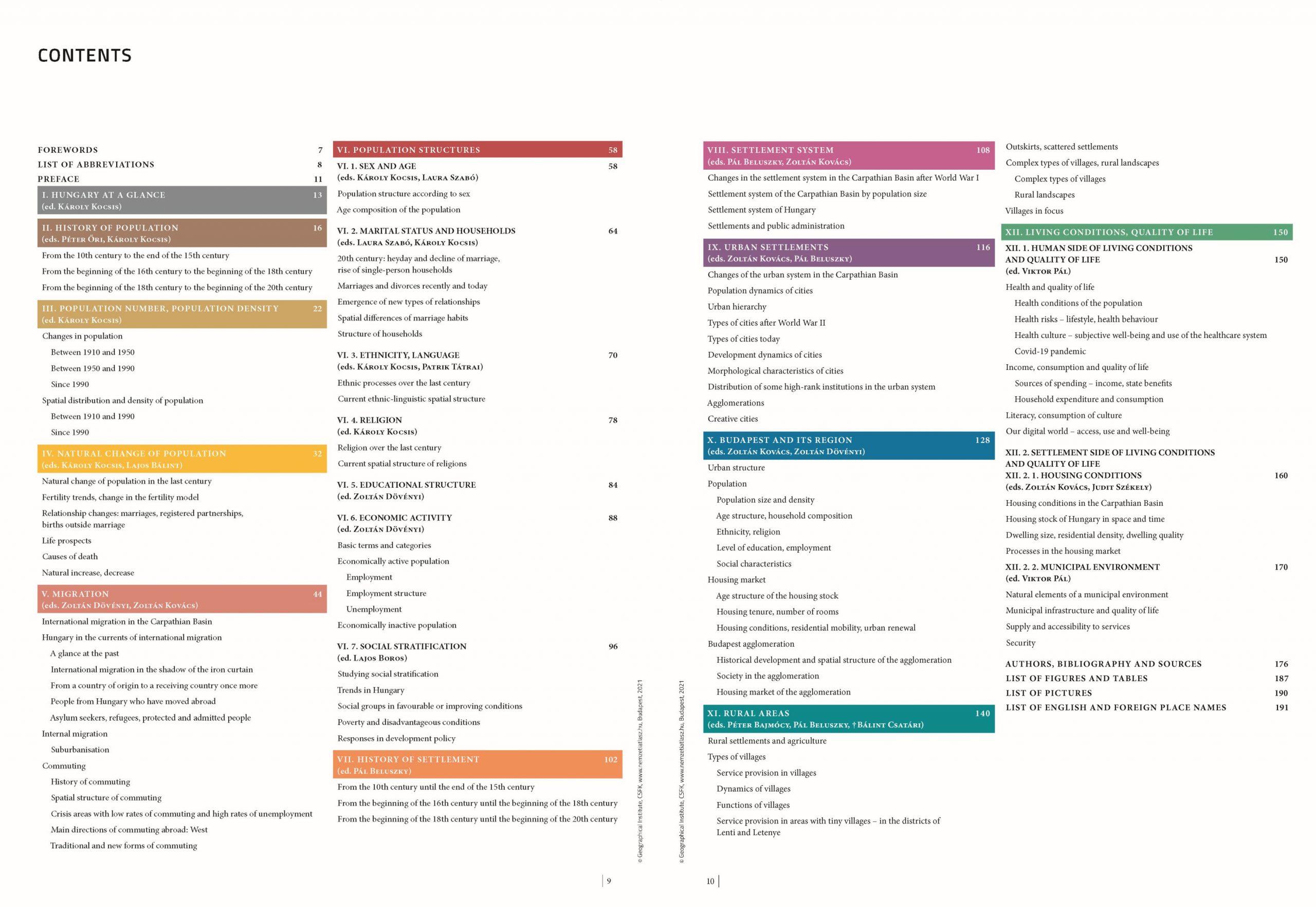 MNA 3. kötet angol: Tartalomjegyzék