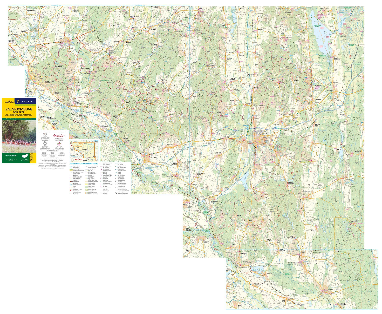 A Zalai-dombság déli része c. térkép által lefedett terület