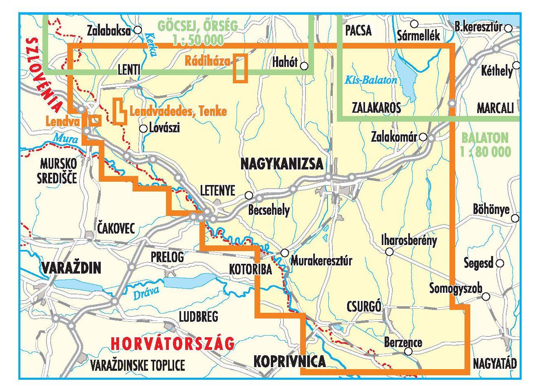 Zalai-dombság (dél) áttekintő térkép